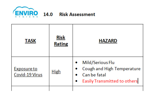 Enviro risk assessment