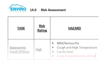 example of risk assessment